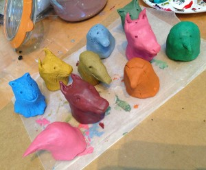 paper clay puppet heads
