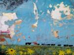 Mixed media painting,