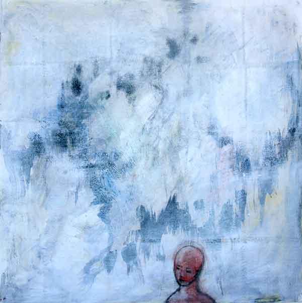 """Wishing no.2"", acrylic on paper, 15""x15"", 2013"