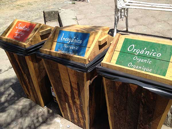 Mexico recycling bins in San Sebastian