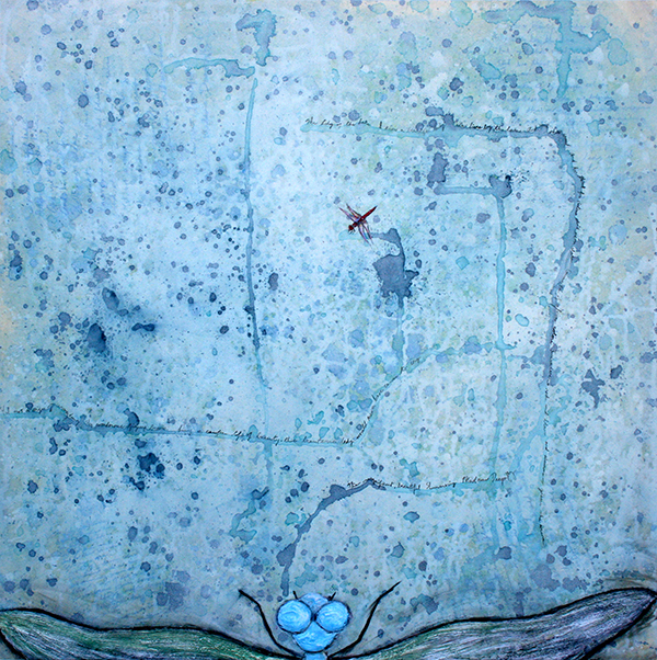 "Lady of the Lake, 30""x30"", Mixed Media, 2013 © Belinda Chlouber"