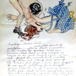 Helen Hoaks letter to my Grandfather Sweet 1938 with illustrations