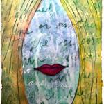"""I Kissed the Blarney Stone"", Mixed Media, 8""x6"", 2013 © Belinda Chlouber"